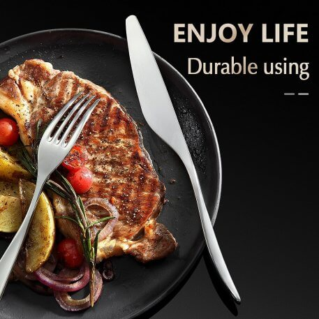 XINZUO 3pcs/lot Portable Camping Cutlery High Carbon Stainless Steel Table Knife Spoon Fork Set Travel Dinnerware Tableware Sets