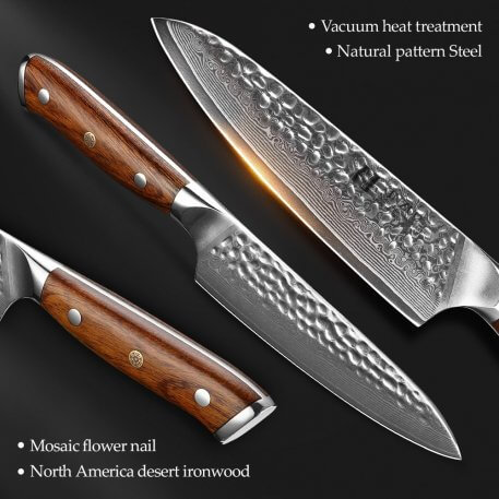 """XINZUO 5"""" Utility Knife 67 layers VG10 Damascus Stainless Steel Japan Chef Knife Kitchen Cook Knives Best Quality"""