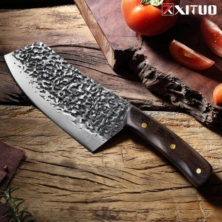 XITUO Handmade Forged Chef Knife High Carbon Stainless Steel Sharp Blade Cleaver Kitchen Knives Chef Slicing Chef Cooking Tools
