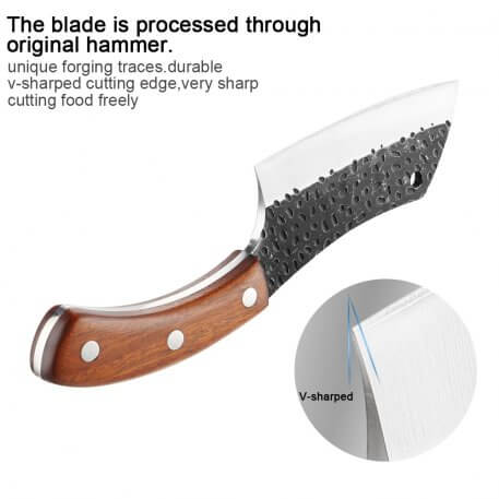 XITUO Handmade Forged Beef knife High Carbon Stainless Steel Chef Knife Sharp Cleaver Kitchen Knife Rosewood Handle Cooking Tool