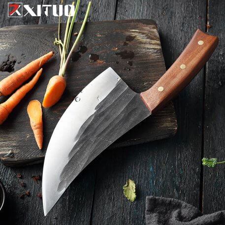 XITUO Handmade knives Full Tang Forged Kitchen Knife High carbon Stainless Steel Chef knife Cooking Knives Butcher knife