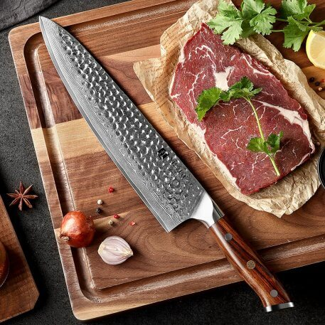 XINZUO 10'' inch Chef Knife Japanese VG10 67 Layers Damascus Stainless Steel New Design Chef kitchen Knives Ebony Handle