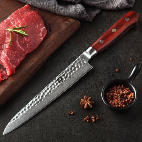 XINZUO Brand 8 inch Cleaver Knife Very Sharp Durable Damascus Stainless Steel Kitchen Knife Rosewod Handle Knife Cutter Tools