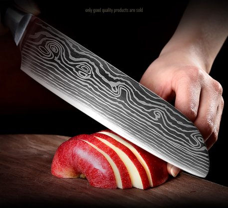 XITUO New Kitchen Knife Sets 4 PCS 7CR17 laser Damascus Stainless Steel Chef Knife Japanese Santoku Cleaver Slicing Paring Knive