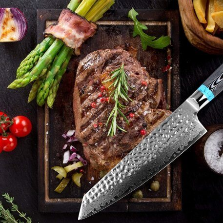 """XITUO Highquality Damascus Knife 8"""" inch VG10 Blade Damascus Steel Knife 67 Layers Japanese Chef Santoku Cleaver Meat knife Gift"""