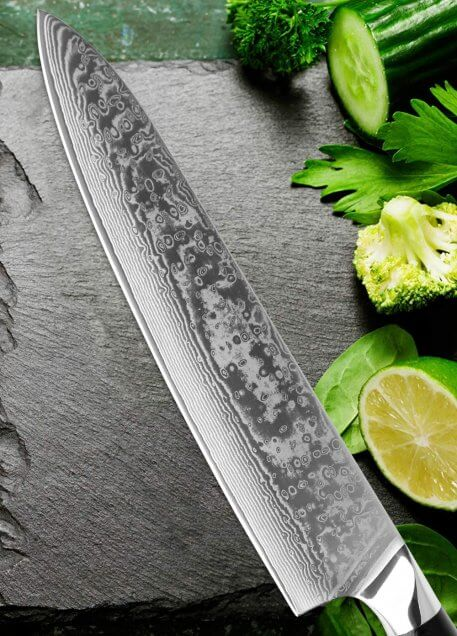 XITUO Damascus Steel 9 Inch Chef Knife Professional Japanese Kitchen Knife Sharp Cleaver Utility Sushi Knife Premium G10 Handle