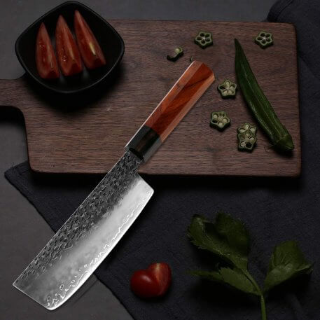 XITUO Sharp Kitchen knife Three-layer Composite Steel Cleaver Slicing Ingenuity Forge Chef Knife Best Choice for Home Kitchen