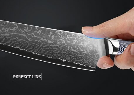 """XITUO Damascus Chef Knife 8""""inch Pro Nakiri Cleaver Knife Japanese Damascus Steel Kitchen Knives with Micarta Handle Meat Slicin"""