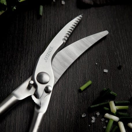 XINZUO Kitchen Scissors 4Cr14N Stainless Steel Kitchen Knives Brand Durable Sharp Shear Cut Chicken Poultry Fish Meat Vegetables